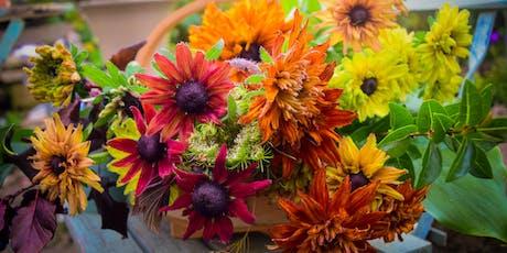 Autumn  Flower Posy Workshop at Mells walled Garden tickets