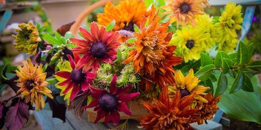 Autumn  Flower Posy Workshop at Mells walled Garden