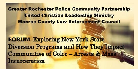 Community-Police Forum - Updates on NY's Diversion Programs tickets