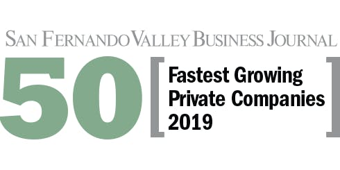 2019 San Fernando Valley Business Journal's Fastest Growing Private Companies