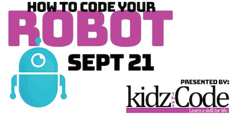 How To Code Your Robot - Coding Event tickets