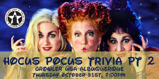 Hocus Pocus Trivia Part 2 at Growler USA Albuquerque