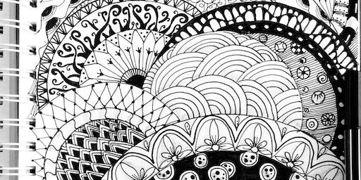 ZenDoodle - Mindful drawing for Wellbeing. Family Friendly