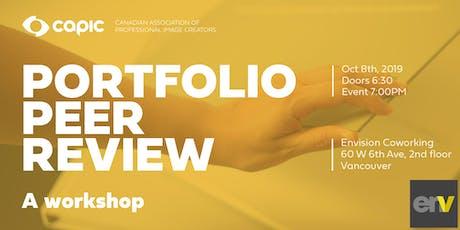 Peer Portfolio Review: A Workshop tickets