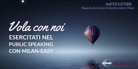 Vola con Toastmaster Milan-Easy! Esercitati con noi nel Public Speaking biglietti