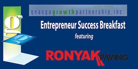 Entrepreneur Success Breakfast - Ronyak Family - Ronyak Paving tickets