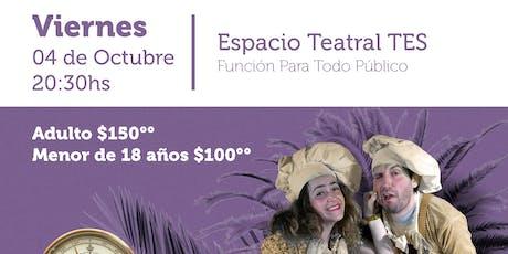 Obra: SUEÑOS DE PASTEL . Festival Nacional de Teatro entradas