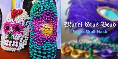 Sugar Skull Mask- Mardi Gras Bead - Witch crafts series