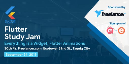 Flutter Study Jam #1: Everything is a Widget & Flutter Animations