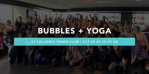 Bubbles + Yoga at Columbia Tower Club
