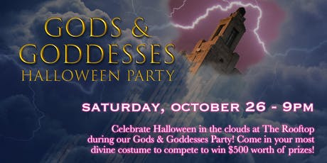 Gods & Goddesses Halloween Party at The Rooftop tickets