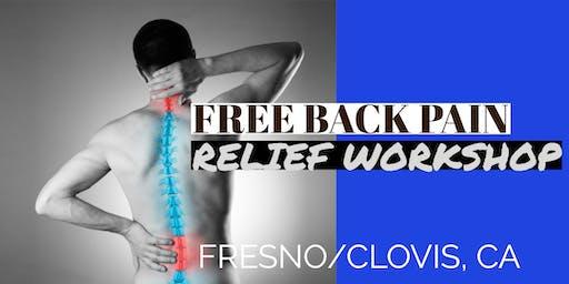 FREE Back Pain Relief Dinner Workshop - Fresno/Clovis, CA