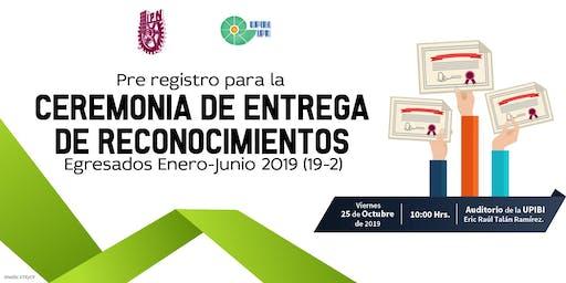 Pre-registro a la Ceremonia de Titulación 2019