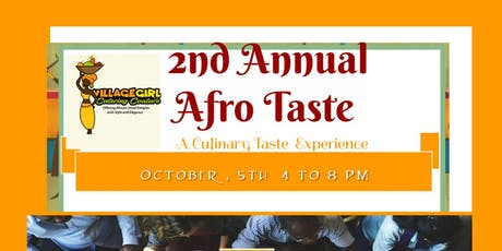 2ND ANNUAL AFRO TASTE  tickets