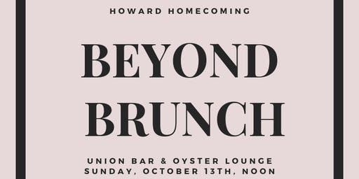 Beyond Brunch Howard Homecoming
