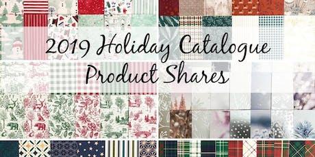 Holiday Catalogue 2019 Product Shares tickets
