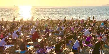 Silent Beach Yoga with Nat Kendall and LIVE music by Madhu! tickets