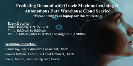 Hands-on Lab: Predicting Demand with Machine Learning & Autonomous Data Warehouse tickets