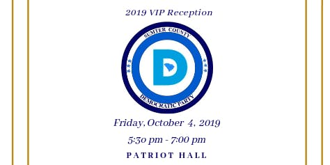 Sumter County Democratic Party's 2019 VIP Reception