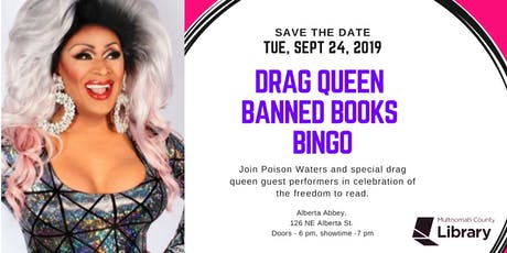Drag Queen Banned Books Bingo tickets