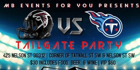 Atlanta Falcons vs Tennessee Titans Tailgate Party tickets
