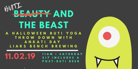 Buti and the Beast:: Halloween Buti & Brews at Liar's Bench tickets