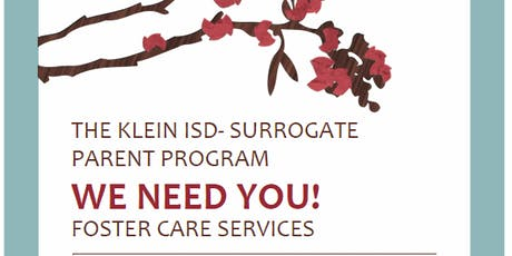 Klein ISD Surrogate Parent Training tickets