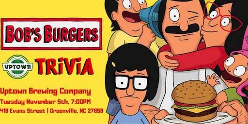 Bob's Burgers Trivia at Uptown Brewing Company