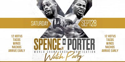 Spence Porter watch Party Saturday, Sept. 28th