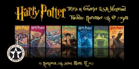Harry Potter Books Trivia at Growler USA Wynwood tickets
