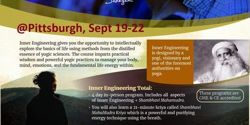 Isha Yoga - Inner Engineering Total September 19 – 22, 2019