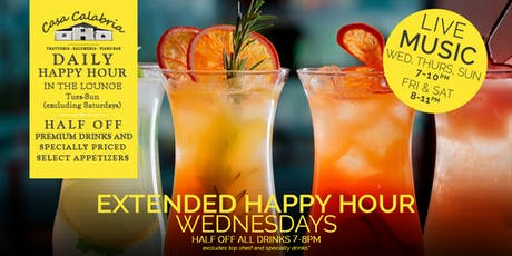 Daily Happy Hour - 50% OFF on Premium Drinks! tickets
