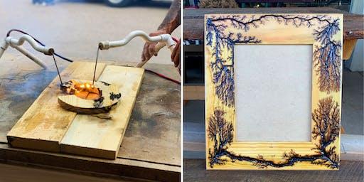 Fractal Burn a Wooden Frame at Salvage Design Center