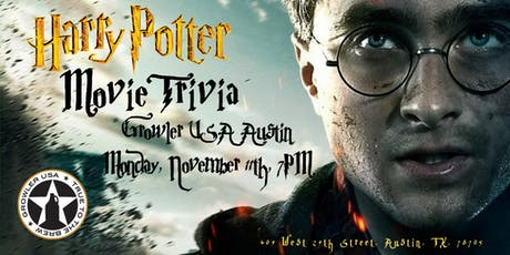 Harry Potter Movies Trivia at Growler USA  Austin tickets