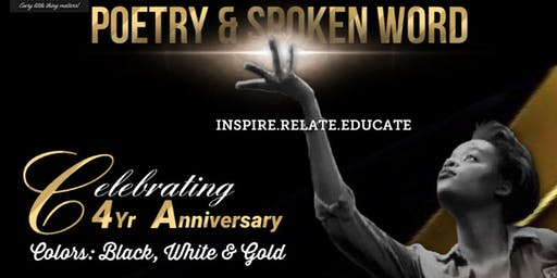 Poetry & Spoken Word (4Yr Anniversary!)