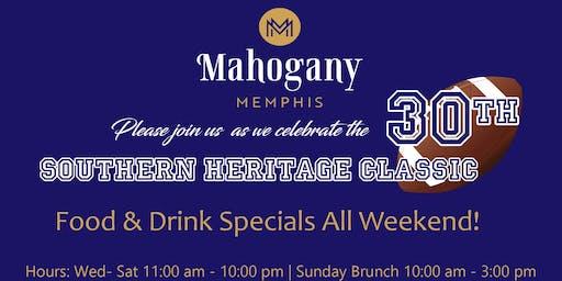 Mahogany Memphis-Classic Weekend Specials