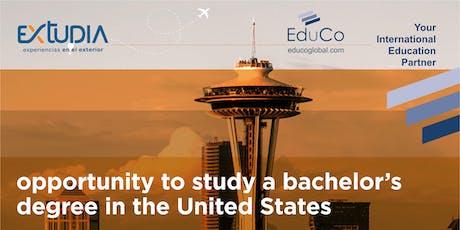 Extudia Bogotá te cuenta!!! Cómo estudiar pregado en USA tickets