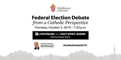 Federal Election Debate Livestream at Holy Spirit, Barrie tickets