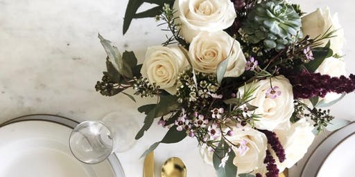 Wine & Floral Design Wedding Centerpieces Class