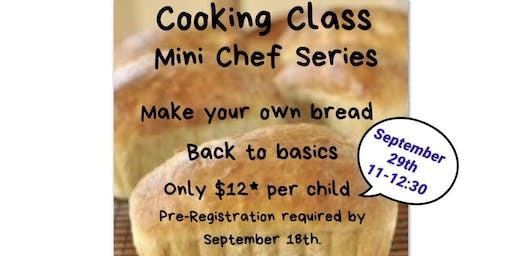 Community Cooking Class Series, Mini Chefs