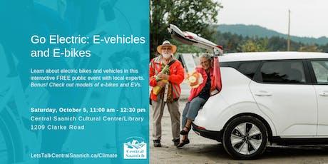 Go Electric: e-vehicles and e-bikes tickets