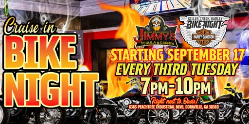 KCHD Bike Night at Jimmy's Tequila & Carnes!