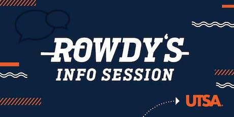 Rowdy's Info Session-Rio Grande Valley  tickets