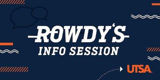Rowdy's Info Session-Rio Grande Valley