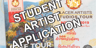 26th Annual Placer Artists Studios Tour - STUDENT ARTIST APPLICATION