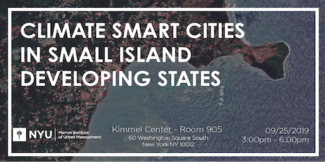 Climate smart cities in small island developing states - NYC Climate Week tickets