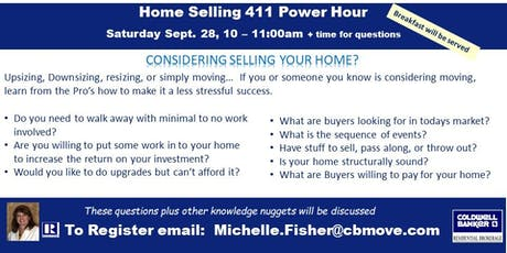 Home Selling 411 Power Hour tickets