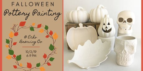 Falloween Pottery Painting at Echo Brewing Company tickets
