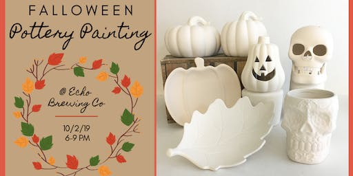Falloween Pottery Painting at Echo Brewing Company