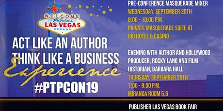 """Act Like an Author Think Like a Business"" Pre-Conference Masquerade  Mixer tickets"
